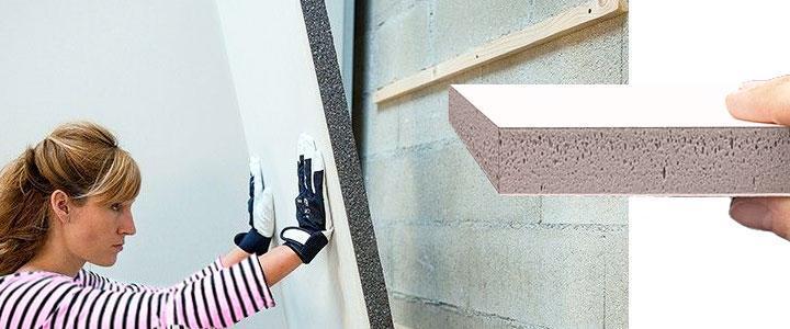 Instalación aislante térmico y acústico en pared